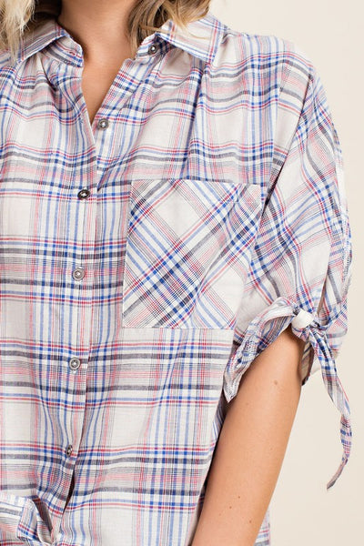 Gigi Plaid Top