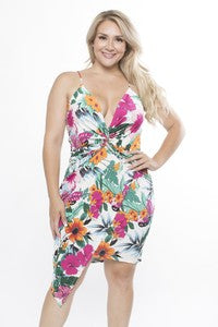 Curvy Tropical Dress