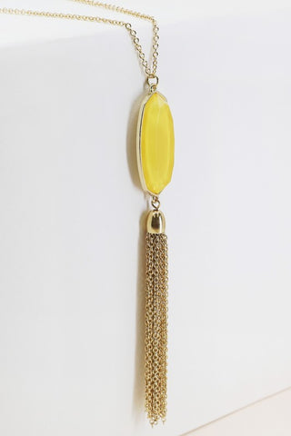 Yellow Crystal Pendant