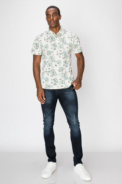Men's Ivory Tropical Polo