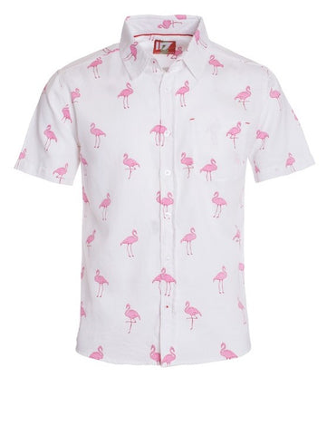 Men's White Flamingo Shirt