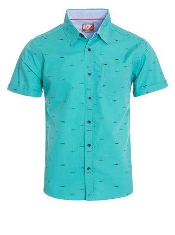 Men's Teal Shark Shirt