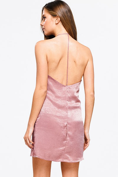 Satin Halter Dress