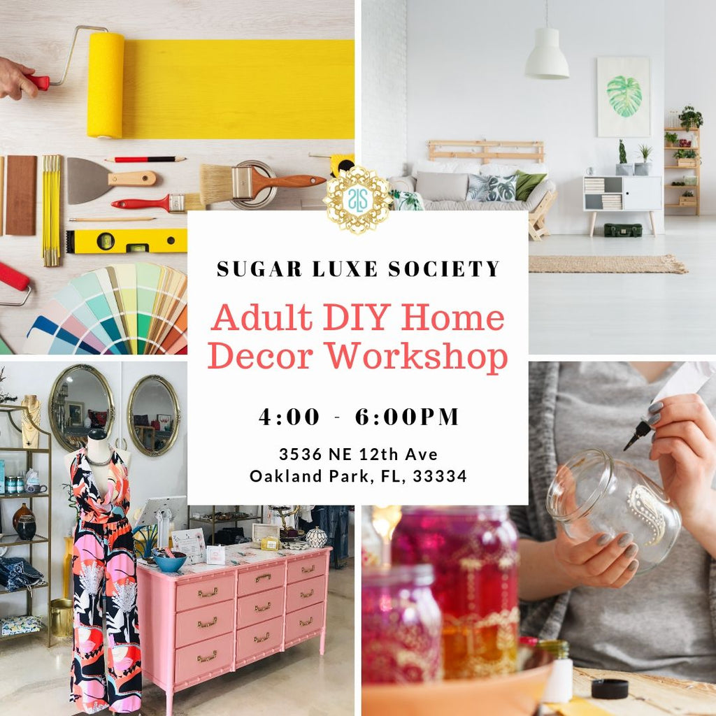 Adult DIY Home Decor Workshop 1