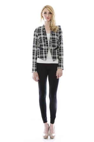 Black/White Stripe Jacket