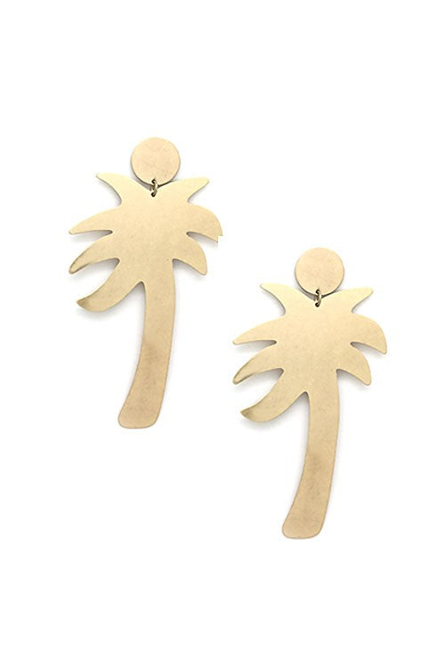 Palm Tree Post Earrings