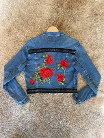 Custom Denim Rose Jacket