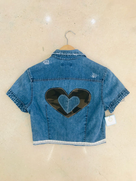 Camo Heart Denim Shirt