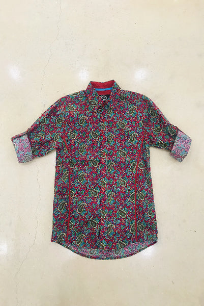 Men's Violet Paisley Shirt