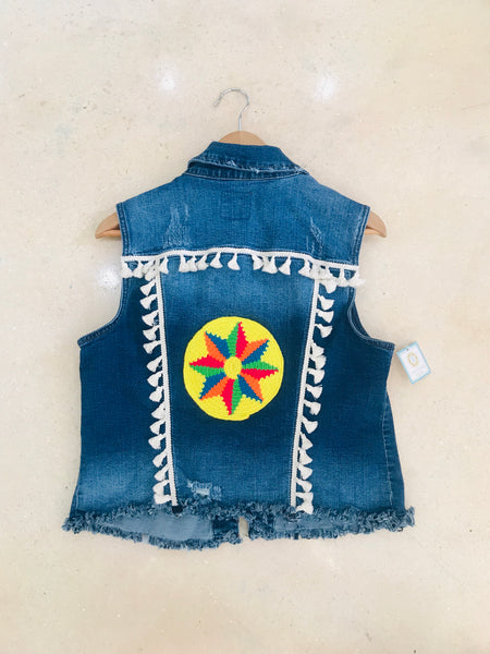 Custom Tassel Denim Vest