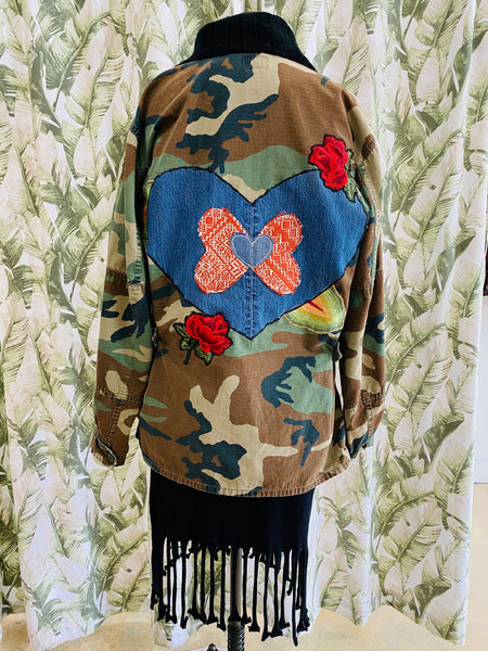 Custom Camo Rose/Heart Jacket