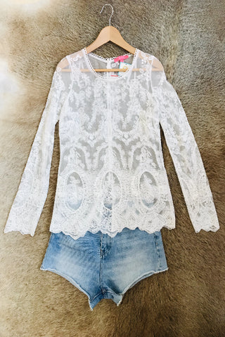 Selena Lace Blouse