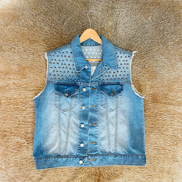 Custom Studded Heart Vest