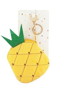Pineapple Fur Key Chain