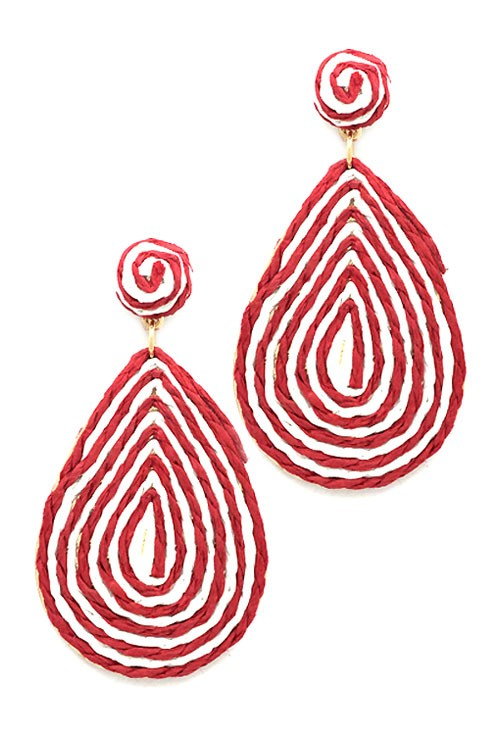Spiral Tear Drop Post Earrings