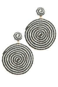 Round Spiral Post Earrings
