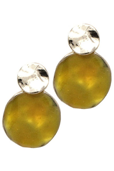Faux Stone  Post Earrings