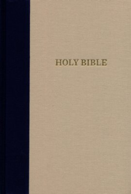 KJV Giant Print Reference Bible (Cloth-Over-Board, Blue/Tan)
