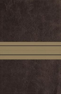 NIV Thinline Bible (Large Print, Leathersoft, Brown/Tan, Comfort Print)