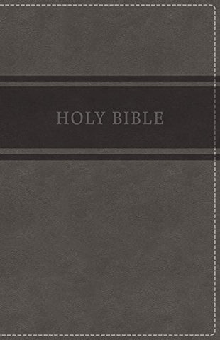 KJV Deluxe Gift Bible Comfort Print (Leathersoft, Gray)