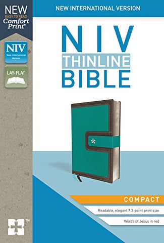 NIV Thinline Bible (Leathersoft, Turquoise/Chocolate)