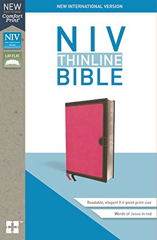 NIV Thinline Bible (Leathersoft, Pink)