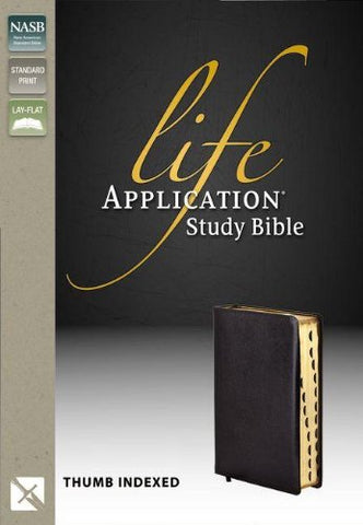 NASB  Life Application Study Bible - Second Edition (Bonded Leather, Black)