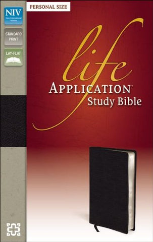 NIV Life Application Study Bible personal Size (Bonded Leather, Black)
