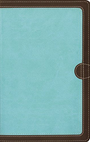 NIV Thinline Bible Comfort Print (Leathersoft, Teal/Brown)