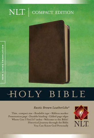 NLT Holy Bible Compact Edition (Leatherlike, Brown)