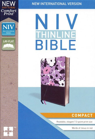 NIV Thinline Bible - Compact Edition (Leathersoft, Dark Orchid/Grape)