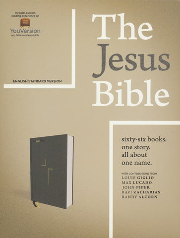 ESV The Jesus Bible (Hardcover, Cloth-over-board, Gray)