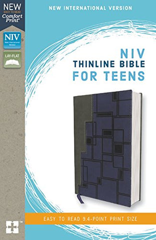 NIV Thinline Bible for Teens (Leathersoft, Gray/Navy)