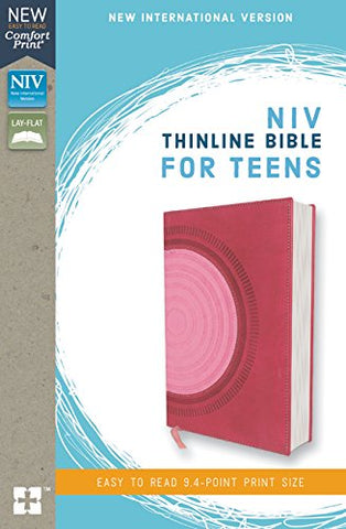 NIV Thinline Bible for Teens(Comfort Print, Leathersoft, RLE, Pink)