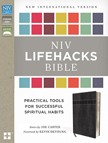 NIV Lifehacks Bible (Leathersoft, Gray)