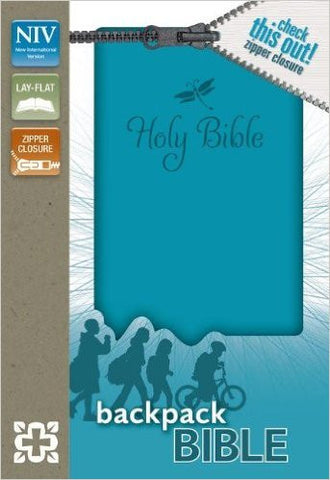 NIV Backpack Zipper Bible (Turqouise)