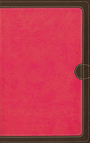 NIV Thinline Bible - Compact Edition (Leathersoft, Pink/Brown)