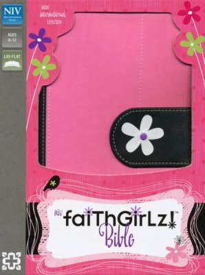 NIV The Faithgirlz Bible (Leathersoft Pink/Black)