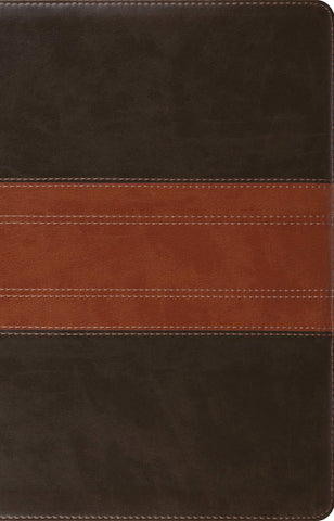 ESV Large Print Thinline Reference Bible (Imitation Leather, TruTone, Forest/Tan, Trail Design)