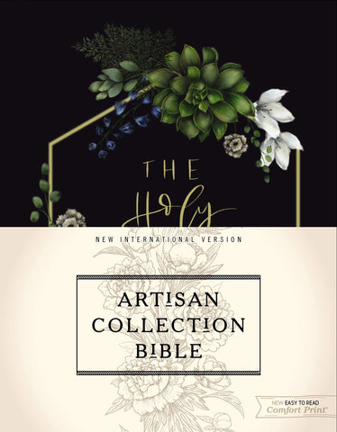 NIV Artisan Collection Bible (Hardcover, Cloth-over-Board, Navy Floral)
