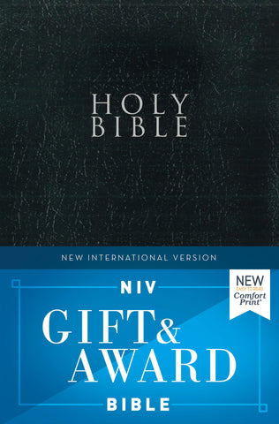 NIV Gift & Award Bible - Comfort Print (Leather-Look, RLE, Black)