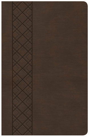 CSB Ultrathin Reference Bible - Value Edition (LeatherTouch, Brown)