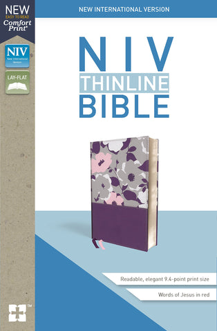 NIV Thinline Bible (Leathersoft, Purple)