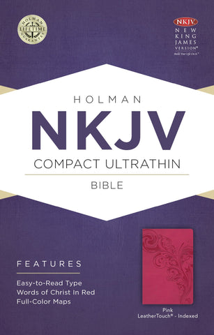 NKJV Compact Ultrathin Bible (LeatherTouch, Pink)