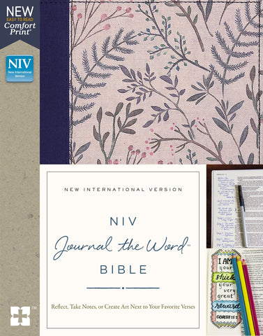 NIV Journal the Word Bible Comfort Print (Hardcover, Cloth-over-Board, Pink Floral)