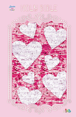 ICB Sequin Sparkle and Change Bible (Hardcover, Pink)