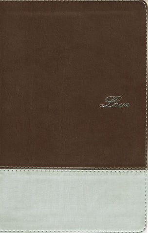 NIV Couples' Devotional Bible (Leathersoft, Italian Duo-Tone, Chocolate/Silver)