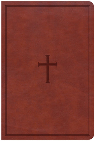 CSB Large Print Personal Size Reference Bible (LeatherTouch, Brown)