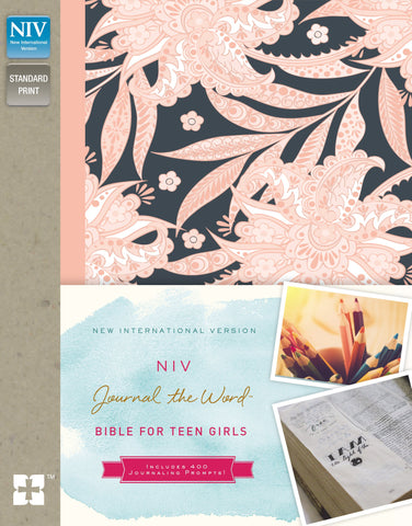 NIV Journal the Word Bible for Teen Girls (Hardcover, Pink Floral, RLE)