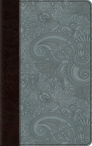 ESV Thinline Bible (Imitation Leather, TruTone, Chocolate/Blue, Garden Design)